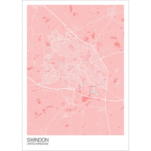 Load image into Gallery viewer, Map of Swindon, United Kingdom