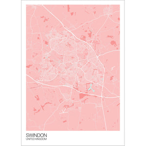 Map of Swindon, United Kingdom