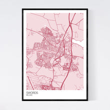 Load image into Gallery viewer, Swords City Map Print