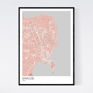 Map of Syracuse, Italy