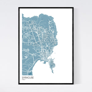 Syracuse City Map Print