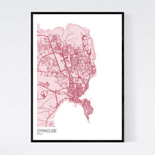 Load image into Gallery viewer, Syracuse City Map Print