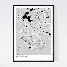 Load image into Gallery viewer, Tallahassee City Map Print