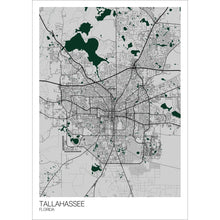 Load image into Gallery viewer, Map of Tallahassee, Florida