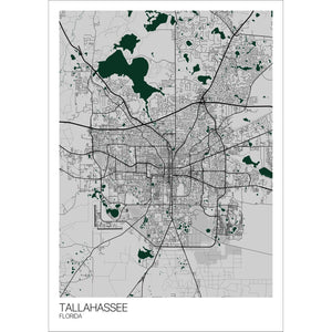 Map of Tallahassee, Florida