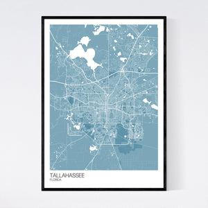 Tallahassee City Map Print