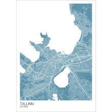 Load image into Gallery viewer, Map of Tallinn, Estonia