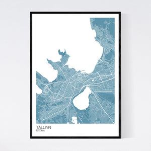 Map of Tallinn, Estonia