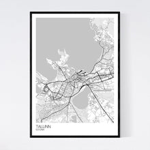 Load image into Gallery viewer, Tallinn City Map Print