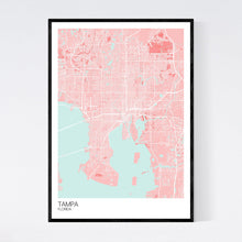 Load image into Gallery viewer, Tampa City Map Print