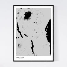 Load image into Gallery viewer, Tanzania Country Map Print