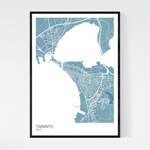 Load image into Gallery viewer, Taranto City Map Print
