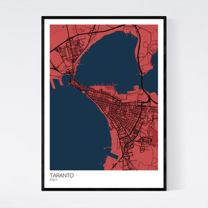 Taranto City Map Print