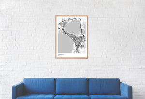 Map of Taranto, Italy