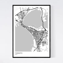 Load image into Gallery viewer, Map of Taranto, Italy