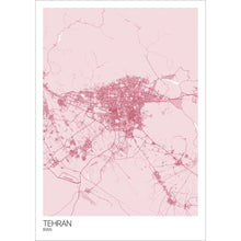Load image into Gallery viewer, Map of Tehran, Iran