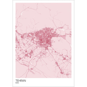 Map of Tehran, Iran