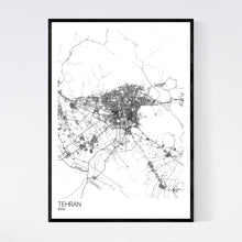 Load image into Gallery viewer, Tehran City Map Print