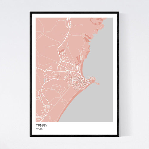 Map of Tenby, Wales