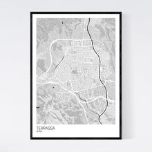 Load image into Gallery viewer, Terrassa City Map Print