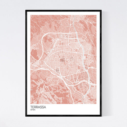 Map of Terrassa, Spain