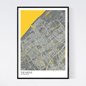 Map of The Hague, Netherlands