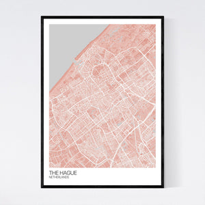 The Hague City Map Print