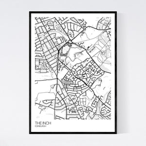 The Inch Neighbourhood Map Print