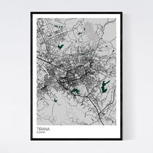 Load image into Gallery viewer, Tirana City Map Print