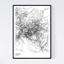 Load image into Gallery viewer, Map of Tirana, Albania