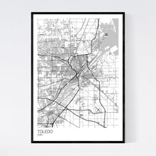 Load image into Gallery viewer, Toledo City Map Print