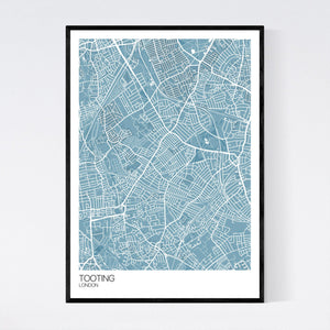 Map of Tooting, London