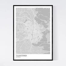 Load image into Gallery viewer, Toowoomba City Map Print