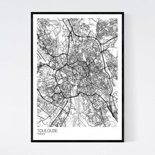 Load image into Gallery viewer, Toulouse City Map Print