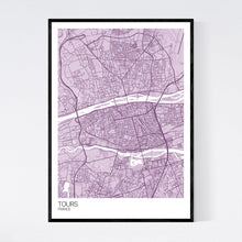 Load image into Gallery viewer, Tours City Map Print