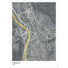 Load image into Gallery viewer, Map of Trento, Italy