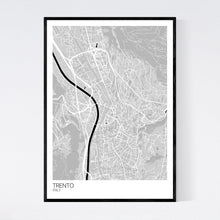Load image into Gallery viewer, Trento City Map Print