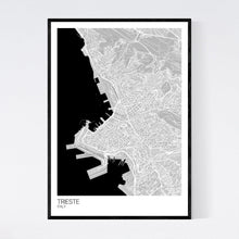 Load image into Gallery viewer, Trieste City Map Print