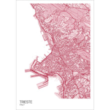 Load image into Gallery viewer, Map of Trieste, Italy