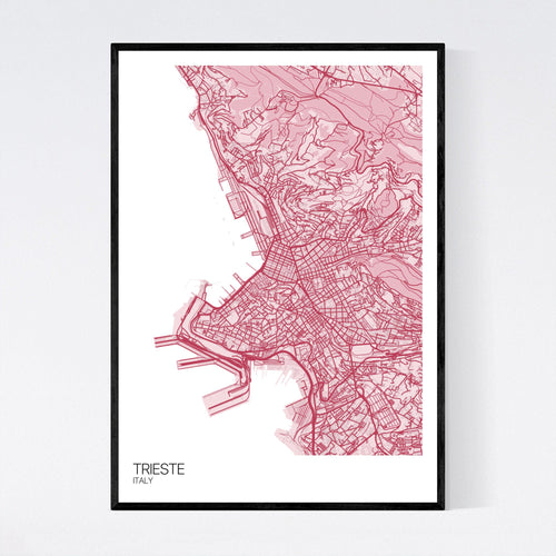 Map of Trieste, Italy