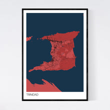 Load image into Gallery viewer, Trinidad Island Map Print