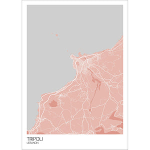 Map of Tripoli, Lebanon