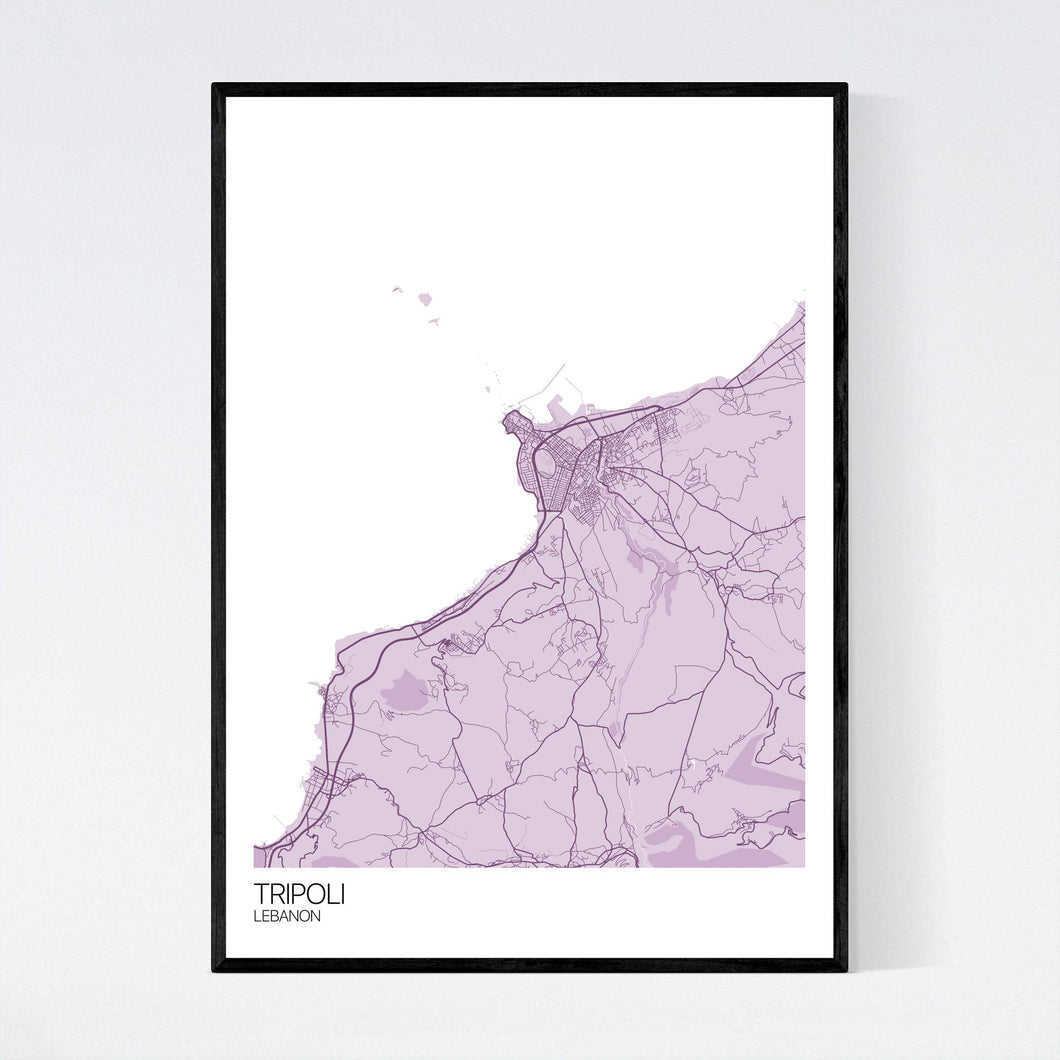 Tripoli City Map Print