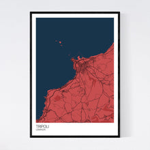 Load image into Gallery viewer, Tripoli City Map Print