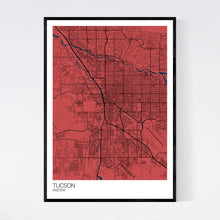 Load image into Gallery viewer, Tucson City Map Print