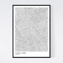 Load image into Gallery viewer, Map of Tufnell Park, London