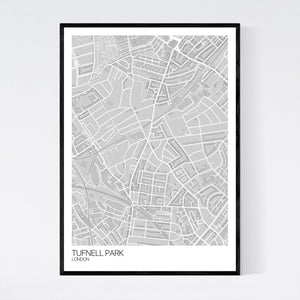 Tufnell Park Neighbourhood Map Print