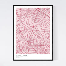 Load image into Gallery viewer, Tufnell Park Neighbourhood Map Print
