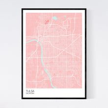 Load image into Gallery viewer, Tulsa City Map Print