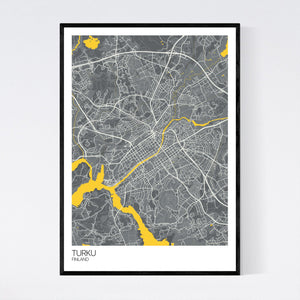 Map of Turku, Finland
